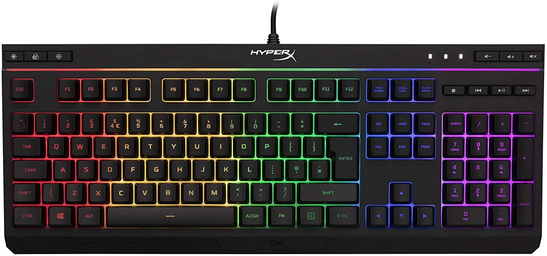 HyperX HX-KB5ME2-DE Alloy Core RGB Membrane Gaming Tastatur
