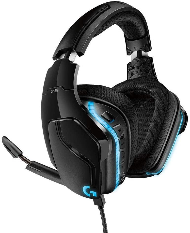 Logitech G635 Gaming-Headset, 7.1 Surround Sound, 79 euro
