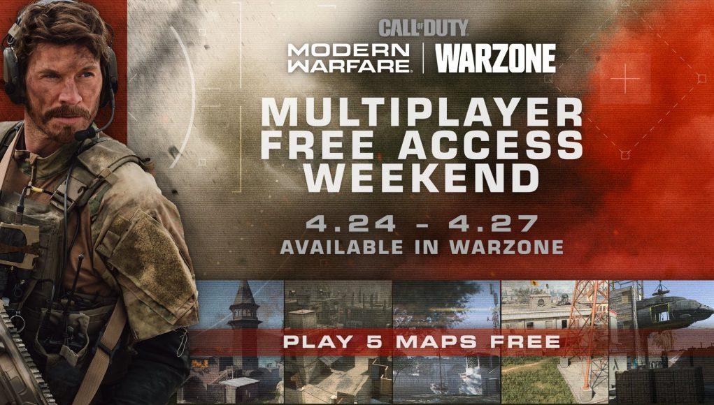 Call of Duty Modern Warfare Multiplayer kostenlos für PC, PS4 und Xbox von 24.04 - 27.04