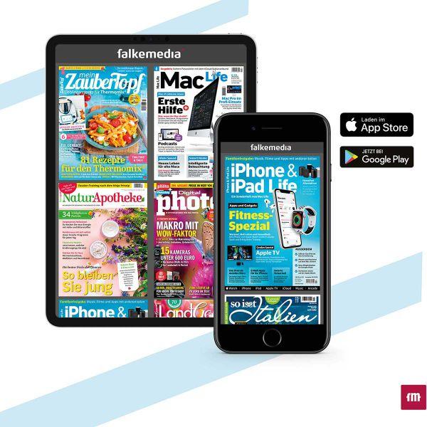 3 Monate E-Paper-Fullflat Zugriff auf alle falkemedia Magazine