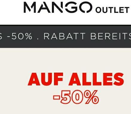 Mango Outlet: 50% auf alles