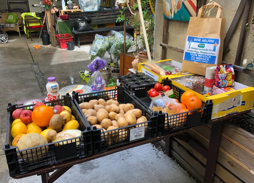 (Wien Naschmarkt) Gratis-Lebensmittelladen für Obdachlose oder finanzieller Notlage