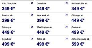 Die Lufthansa Winterangebote mit Philadelphia ab 333€, New York ab 376€, Tokio ab 473€, ...