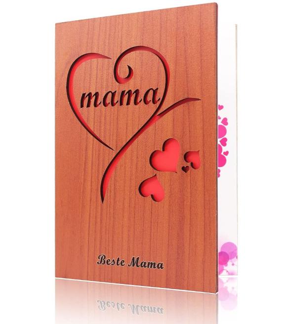 Muttertagskarte aus Holz