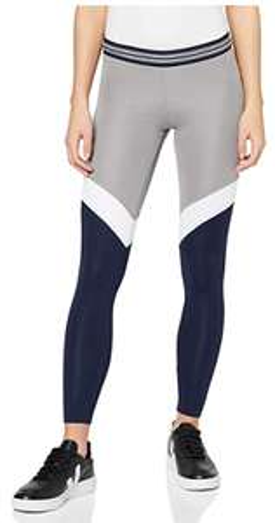 Activewear Sport Leggings für Damen, Grau (Mid Grey/White/Navy)