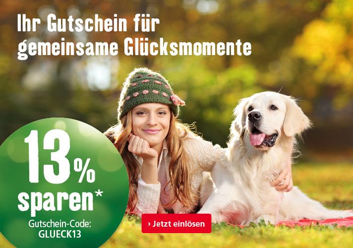 13% Gutschein ab 39 Euro Bestellwert