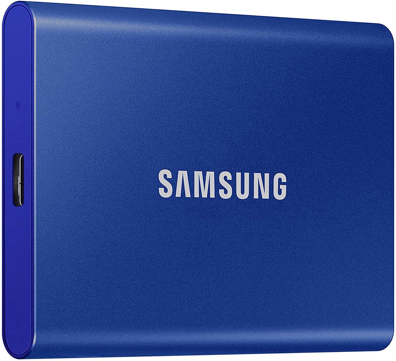Stornoparty: Samsung Portable SSD T7 blau 2TB, USB-C 3.2 Gen 2