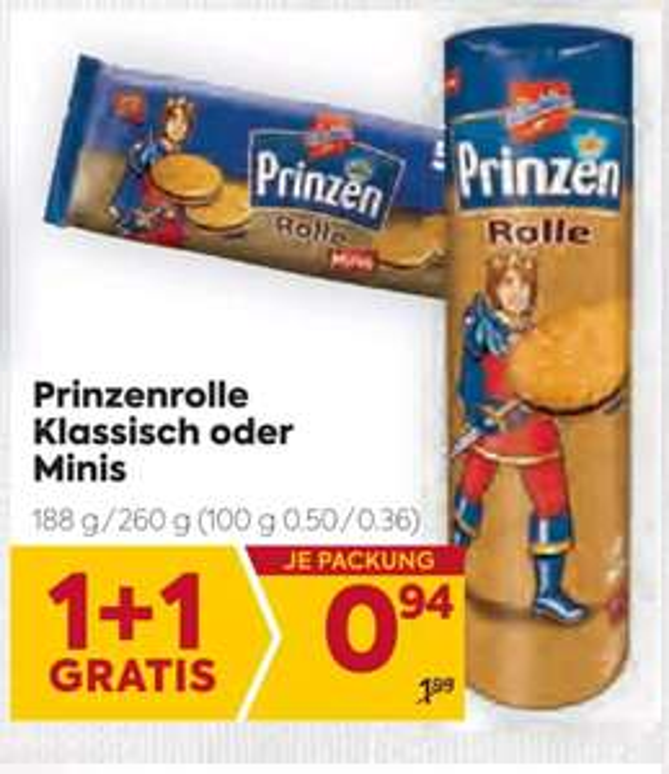 Prinzenrolle Klassisch oder Minis bei Billa und Merkur um 47 Cent