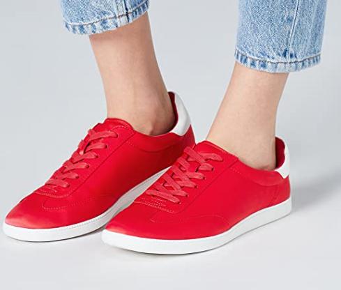 find. V0338 Damen Sneaker in rot und blau