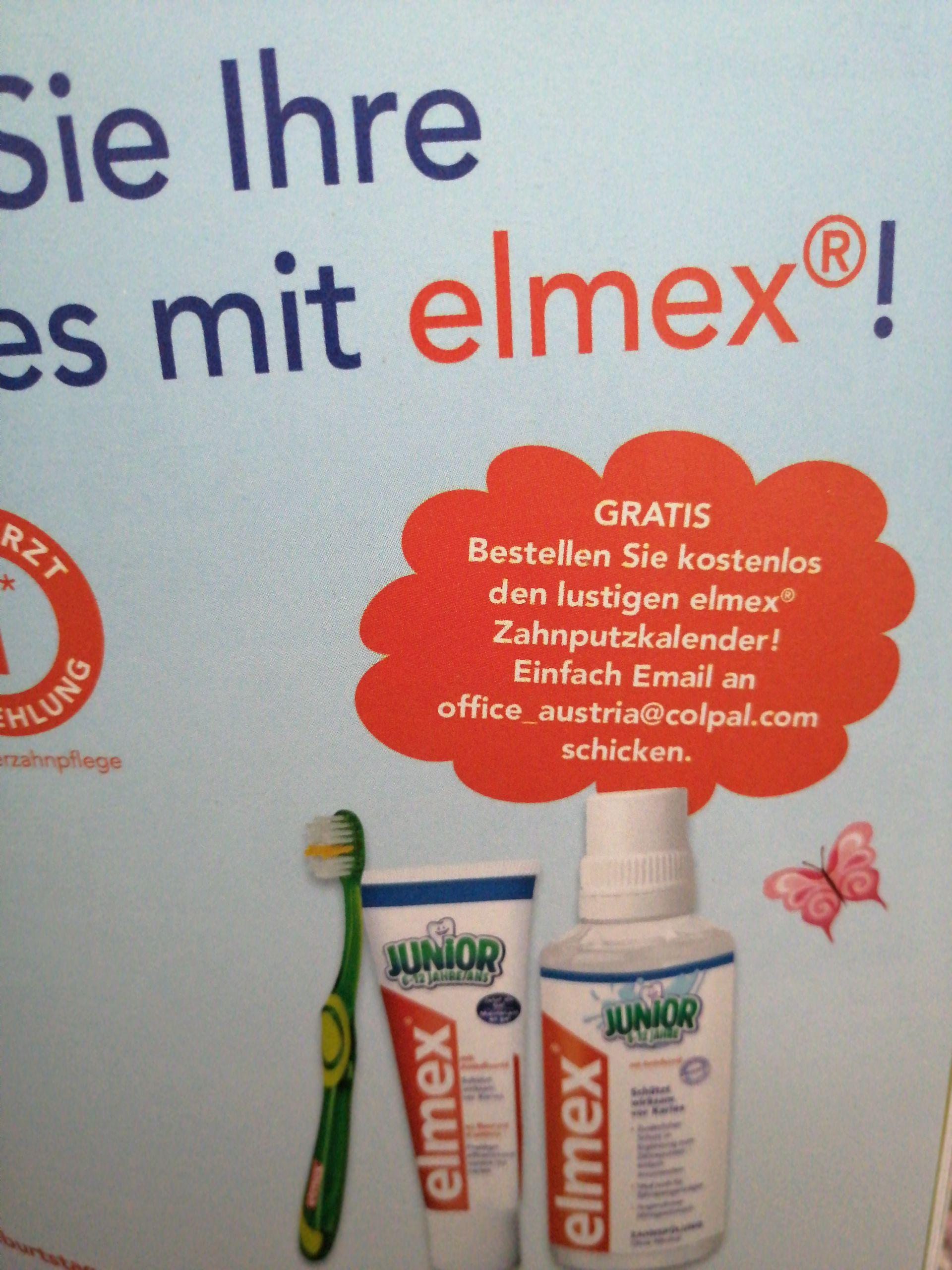 Zahnputzkalender bei Elmex bestellen GRATIS