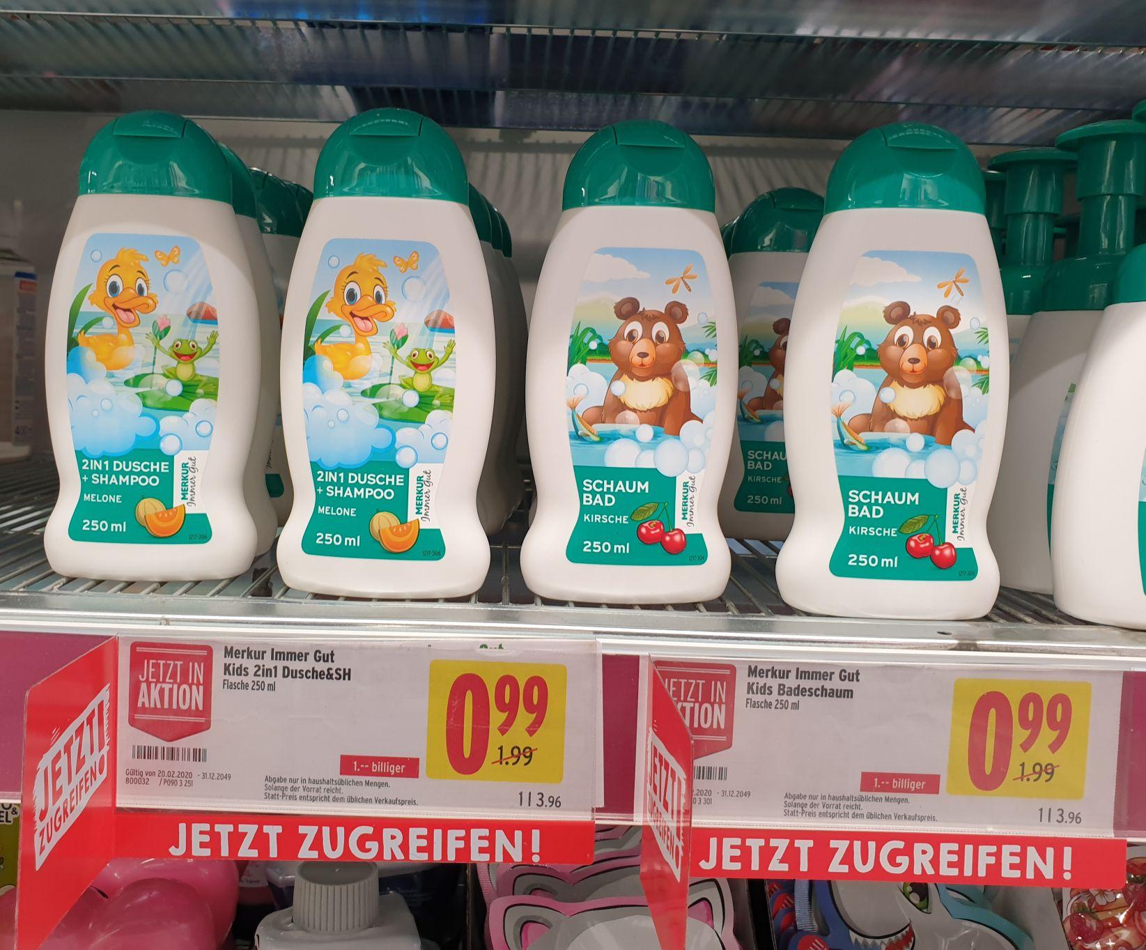 MIG Kids 2in1 Dusche (Melone) & Kids Schaumbad (Kirsche)