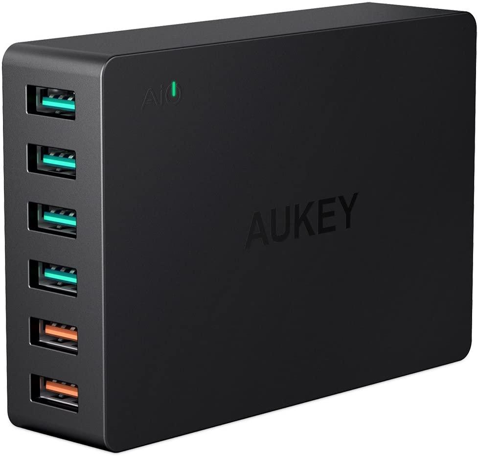 AUKEY Quick Charge 3.0 Multi-Port USB Ladegerät 6 Ports 60W