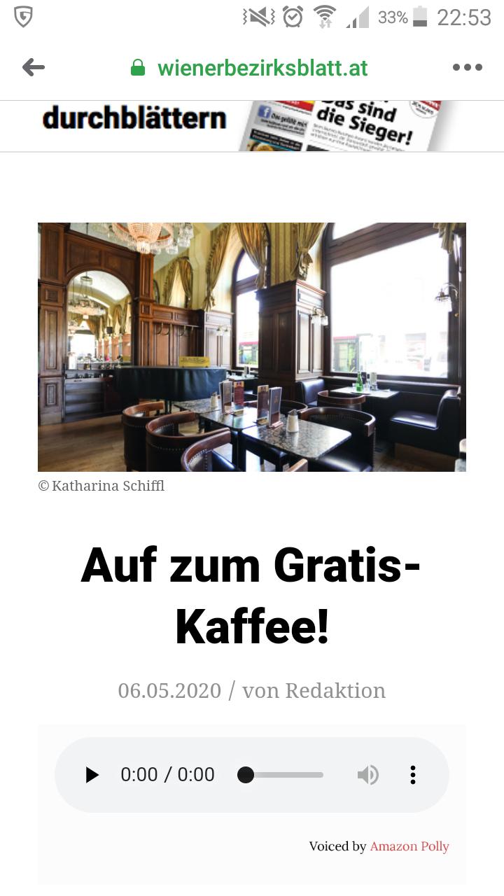 Wien - Gratis Kaffe am 16.05