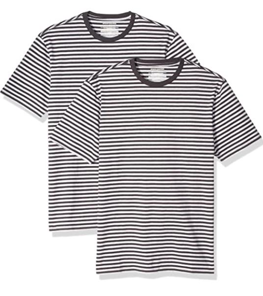 2x Amazon Essentials Herren T-Shirt Slim-Fit Kurzarm ab 3,90 Euro S bis L (XS sogar 2,96)