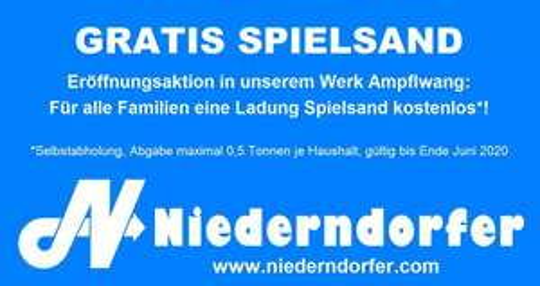 [Lokal/OÖ]: Gratis Spielsand im neuen Kieswerk Ampflwang