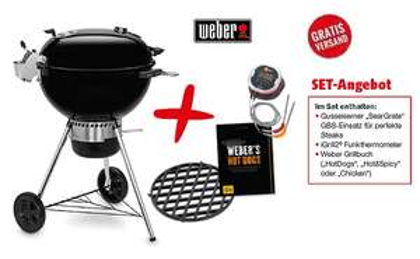 Weber Master-Touch GBS Premium SE E-5775 + iGrill 2 + Sear Grate + Weber Kochbuch