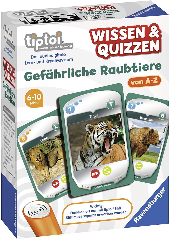 Preisjäger Junior: Ravensburger tiptoi - Wissen & Quizzen: Gefährliche Raubtiere