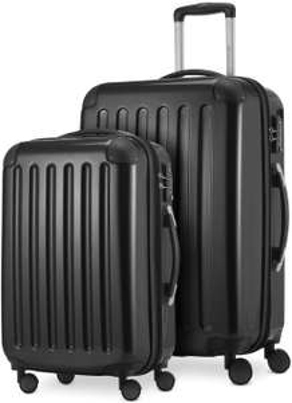 (schnell) Hauptstadtkoffer - 2er Kofferset (mittelgroß 65cm, 74l + Handgepäck 55cm, 42l )