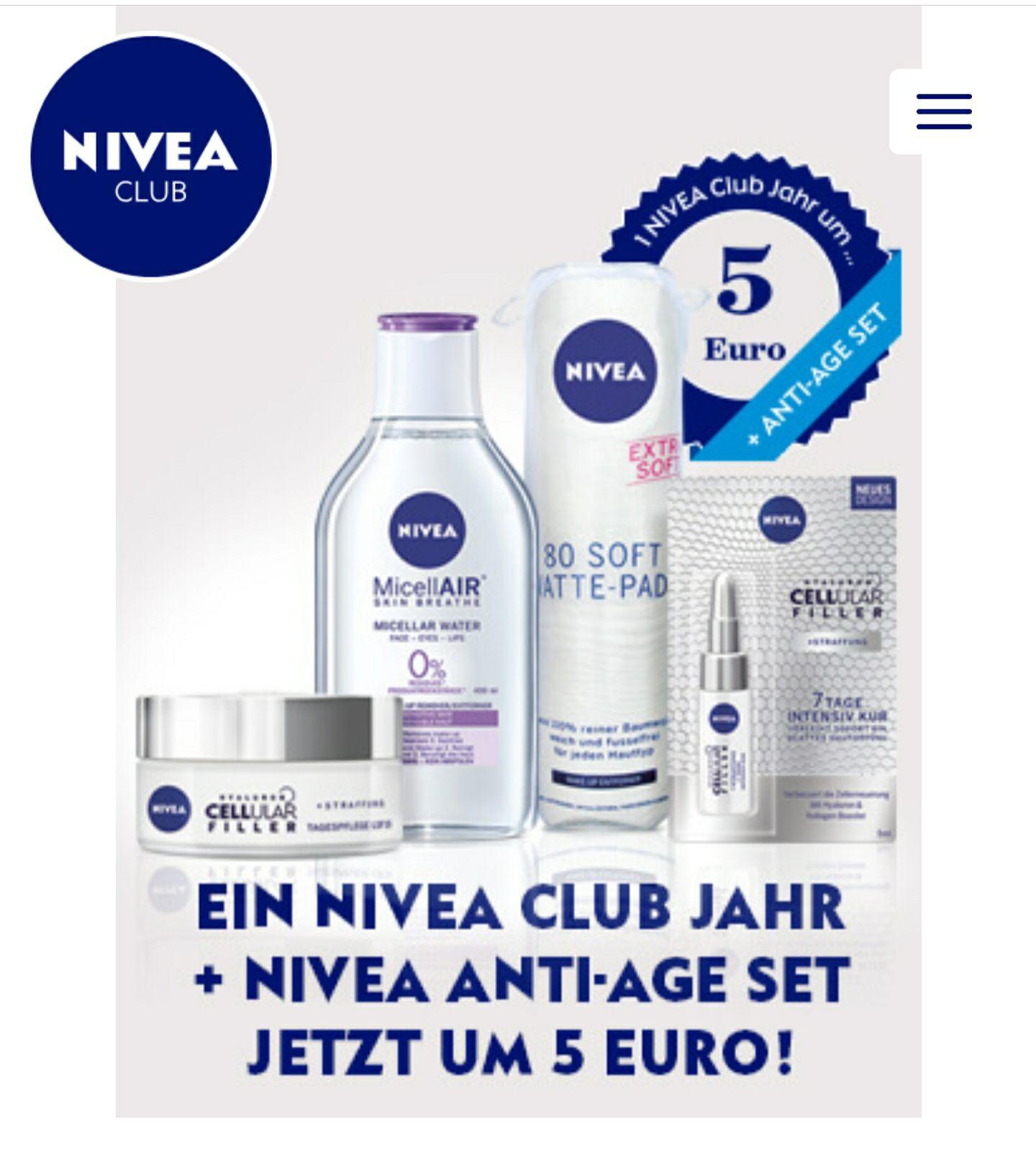Ein Nivea Club Jahr + Anti-Age Set um 5€