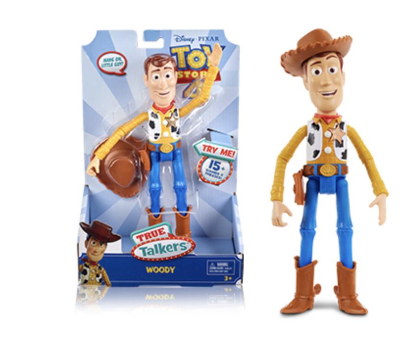 Mattel - Toy Story 4 Sprechender Woody deutschsprachig, mit +15 Sätzen, 17 cm