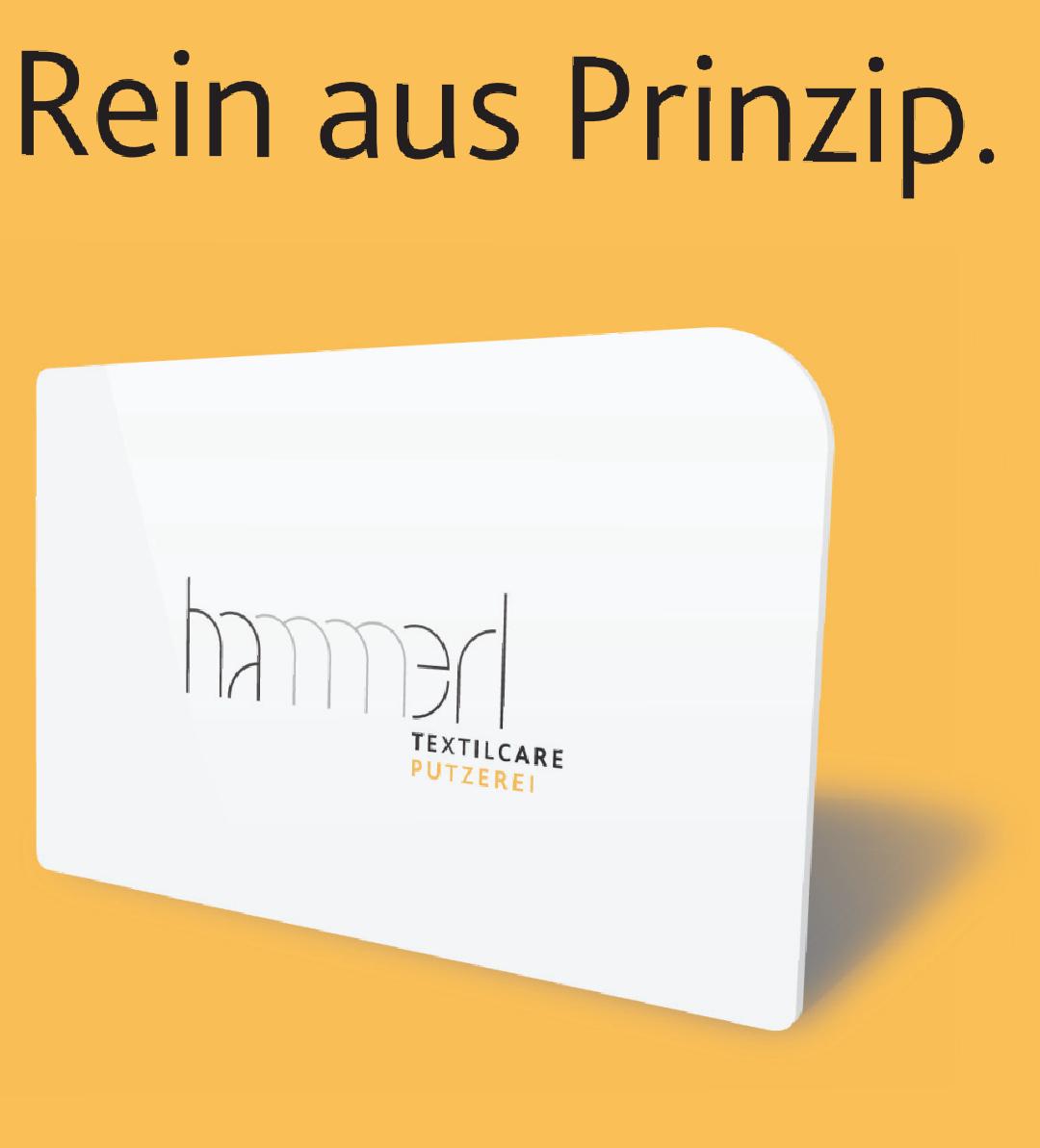 Putzerei Hammerl: 200,- aufladen > 50,- Guthaben geschenkt
