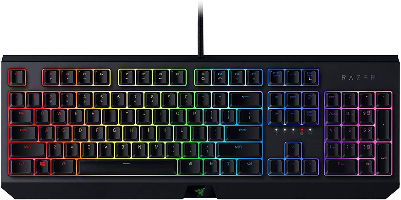 Razer BlackWidow Mechanische Gaming Tastatur mit Razer Green Switches