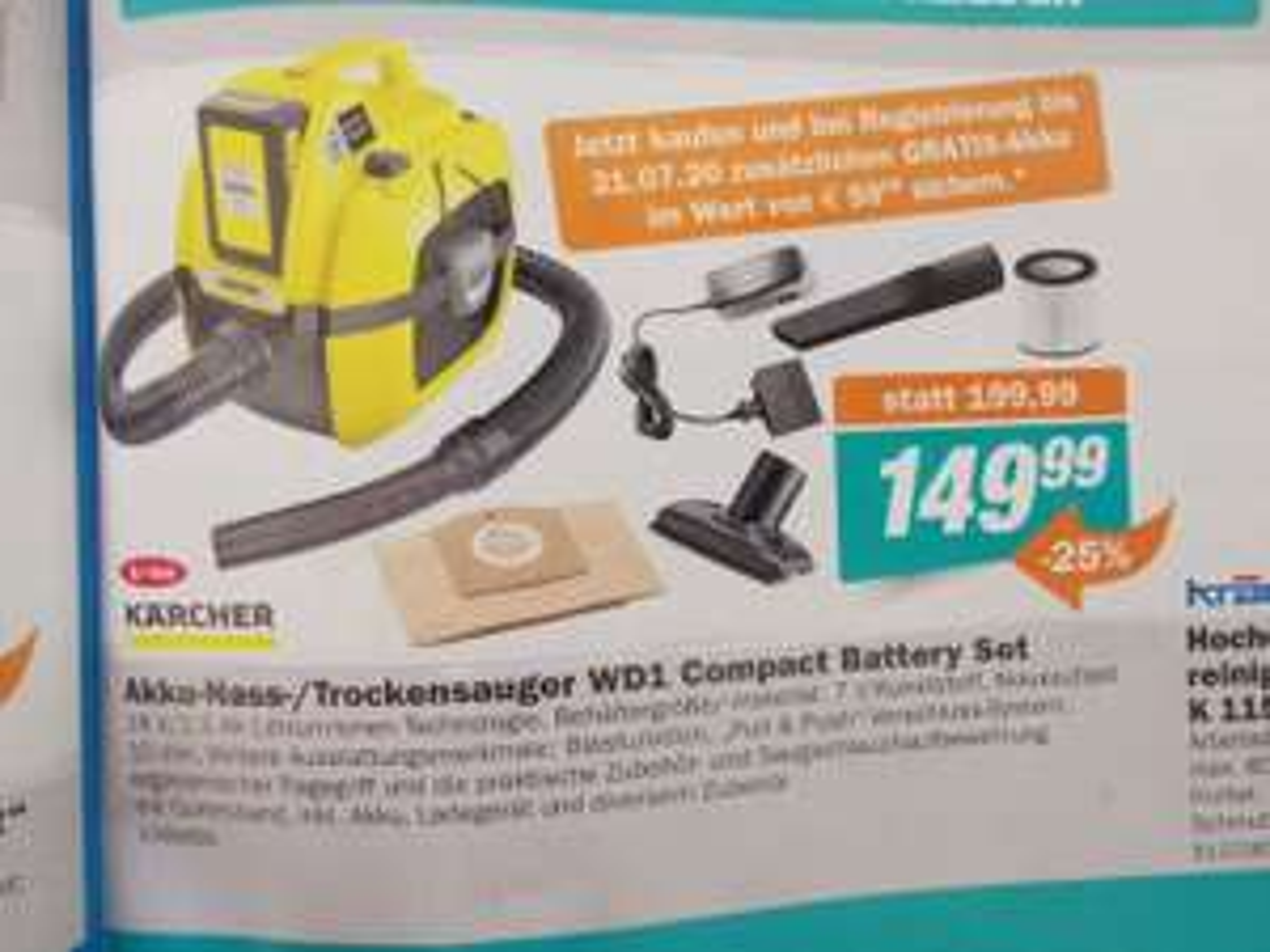 [Let's Do it] Kärcher WD1 Compact Battery Set