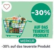 -30% auf das teuerste Produkt bei Merkur