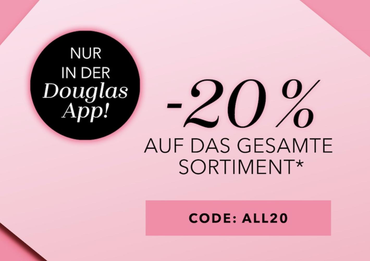 Douglas: 20% Rabatt auf alle nicht reduzierten Artikel