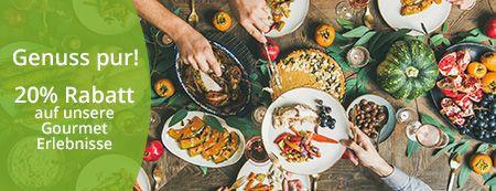 [jollydays] 20 % Rabatt auf Gourmet Erlebnisse