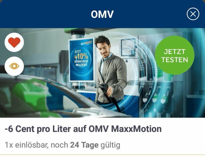 -6 Cent / Liter MAxxMotion mit Jö-Bonusclub Karte