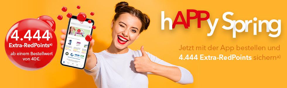 Shop Apotheke App: 4.444 Redpoints ab 40€ Einkauf (-4,44€ für nächste Bestellungen)