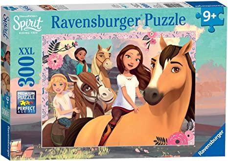 Ravensburger 13252 Spirit -Abenteuer auf Pferden, 300 Teile Puzzle