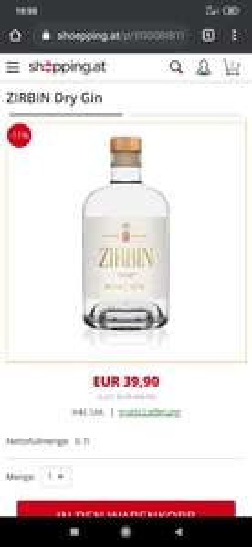 ZIRBIN Dry Gin
