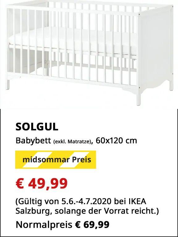 [Ikea Salzburg]: Solgul Babybett 120x60 cm (Family Angebot)