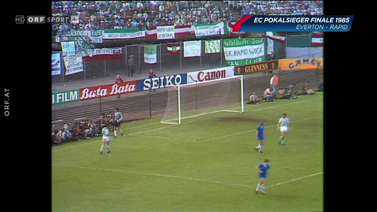 Fußball Europacup Finale 1985: Rapid Wien - Everton plus die Dokumentation darüber