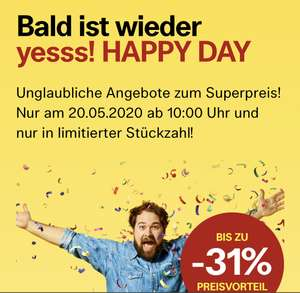 Yesss! Happy Day am 20.05.2020 ab 10 Uhr