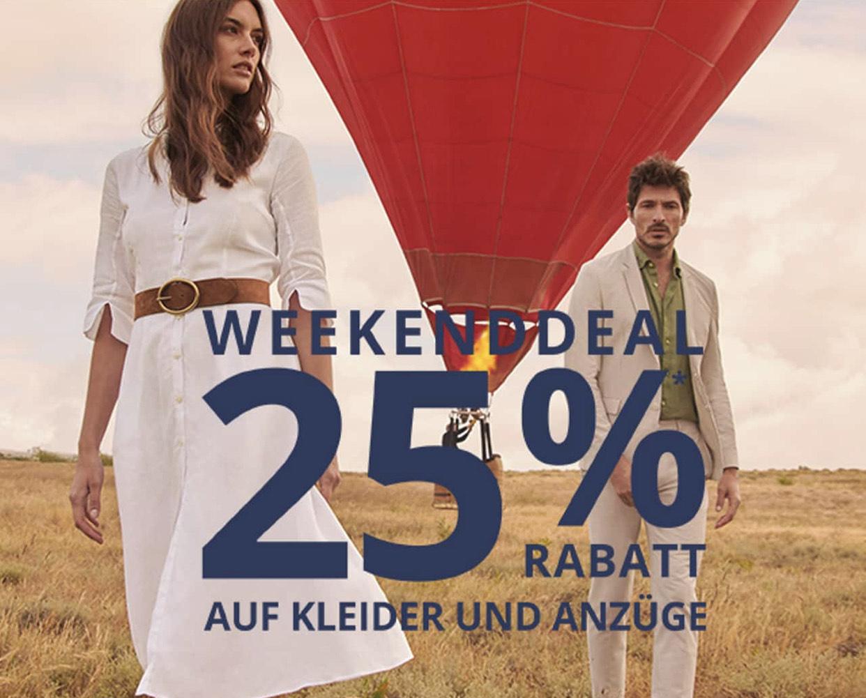 Peek & Cloppenburg - 25% Rabatt auf alle Kleider und Anzüge