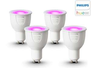 Philips Hue White and Color Ambiance Single GU10 4er Pack