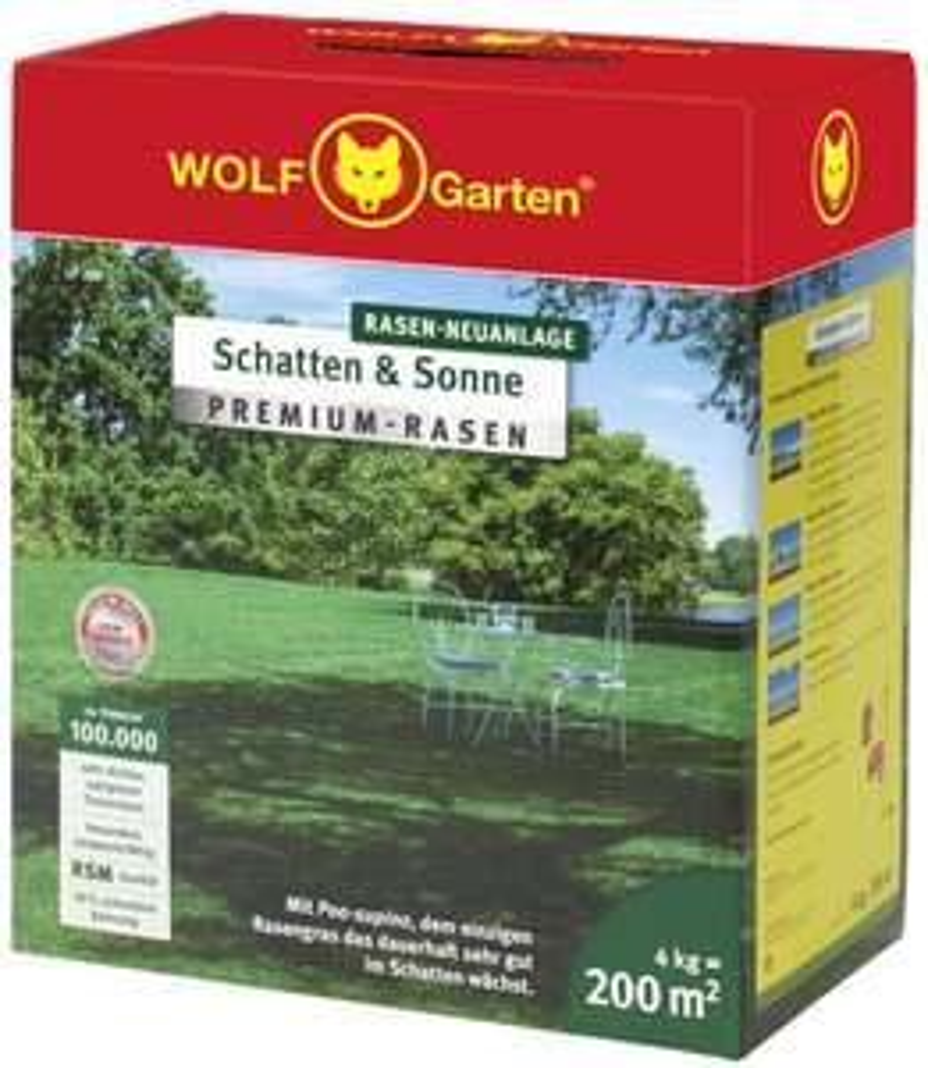 [Amazon] WOLF-Garten - Premium-Rasen »Schatten & Sonne«LP 200