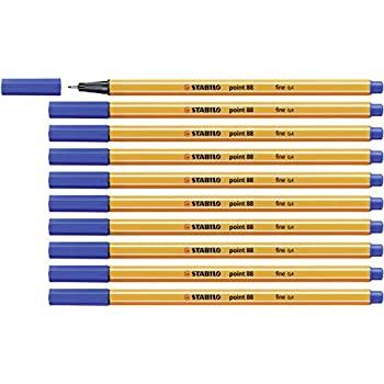 10x Stabilo Fineliner, blau