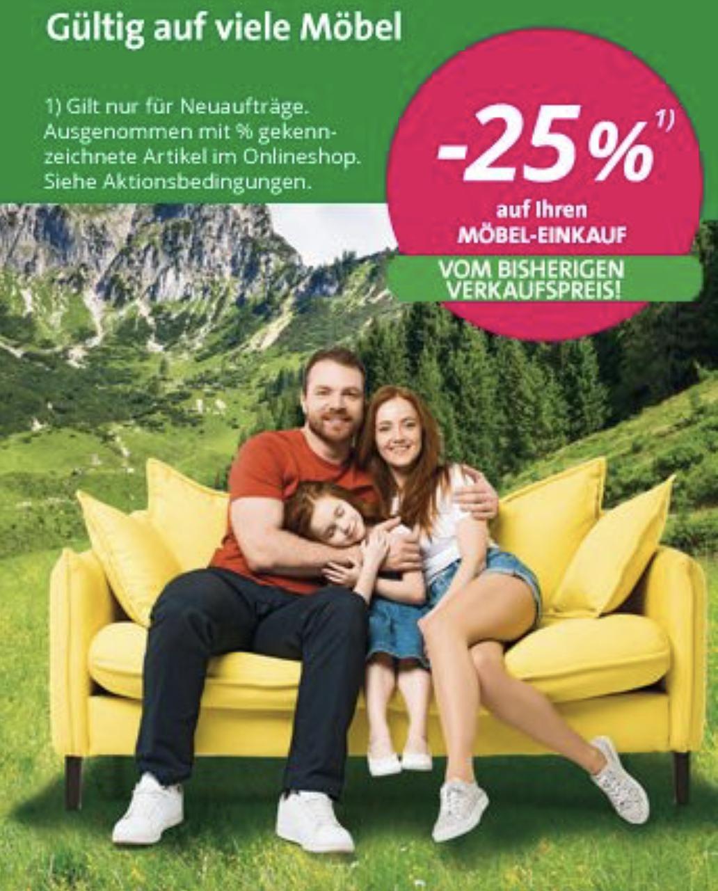 Leiner -25 % auf Möbel von letztmaligen Verkaufspreis
