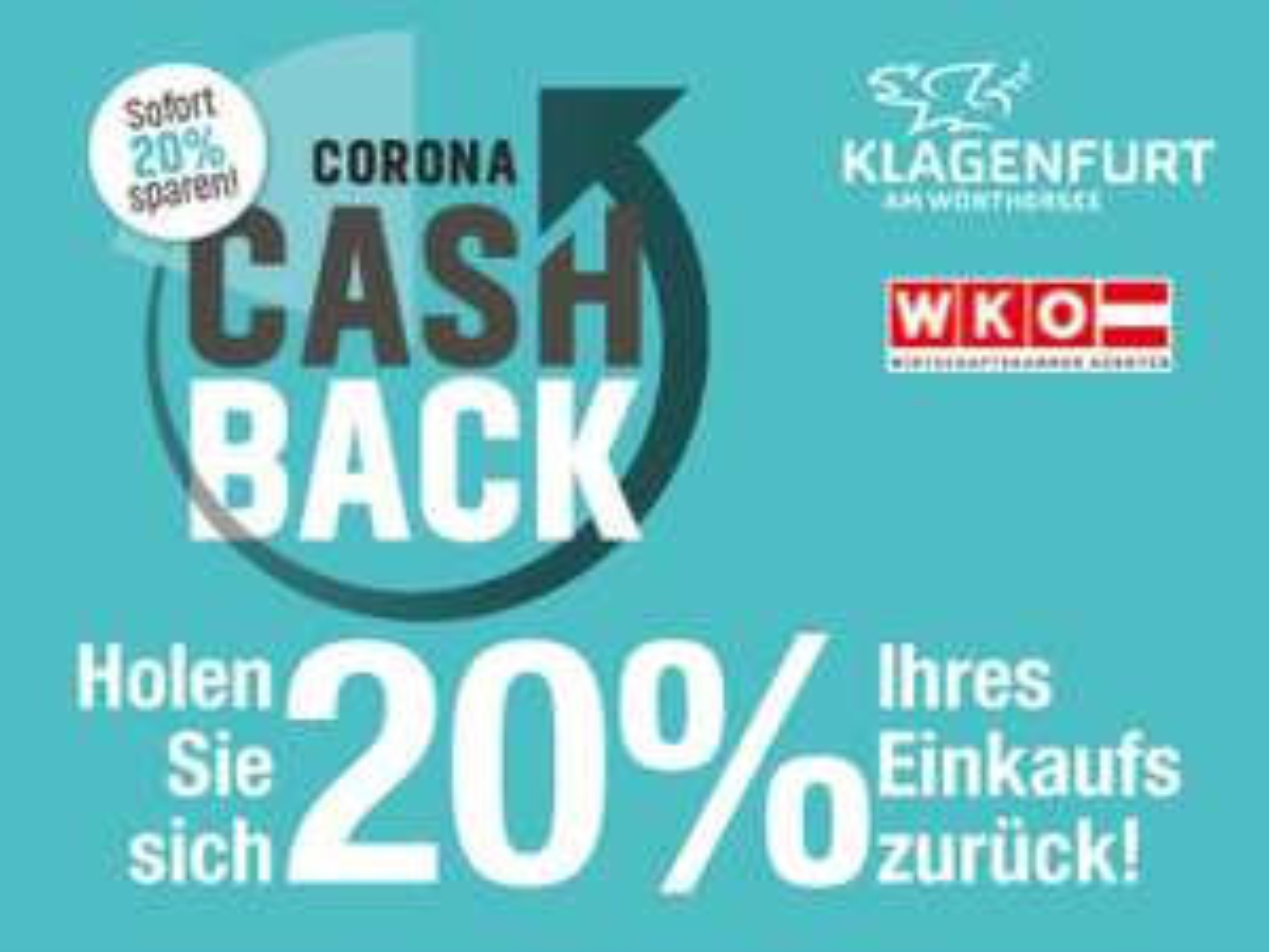 20% Corona Cashback in Klagenfurt