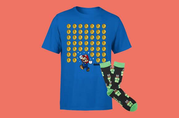 Super Mario Shirt und Socken