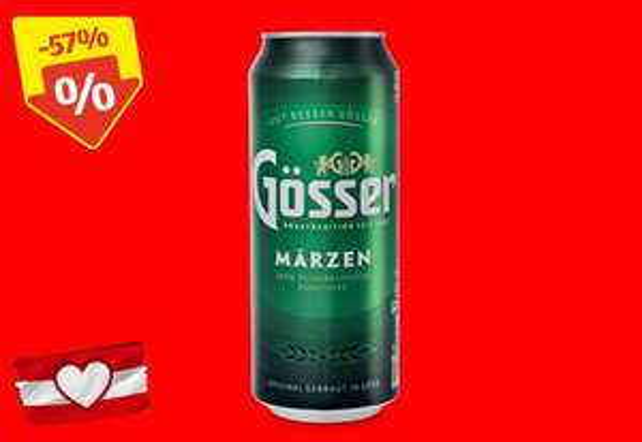 [Hofer] Gösser Märzen 46 Cent, 2x Ristorante Pizza 3 Euro, Gurke 49 Cent, Salzstangerl 33 Cent