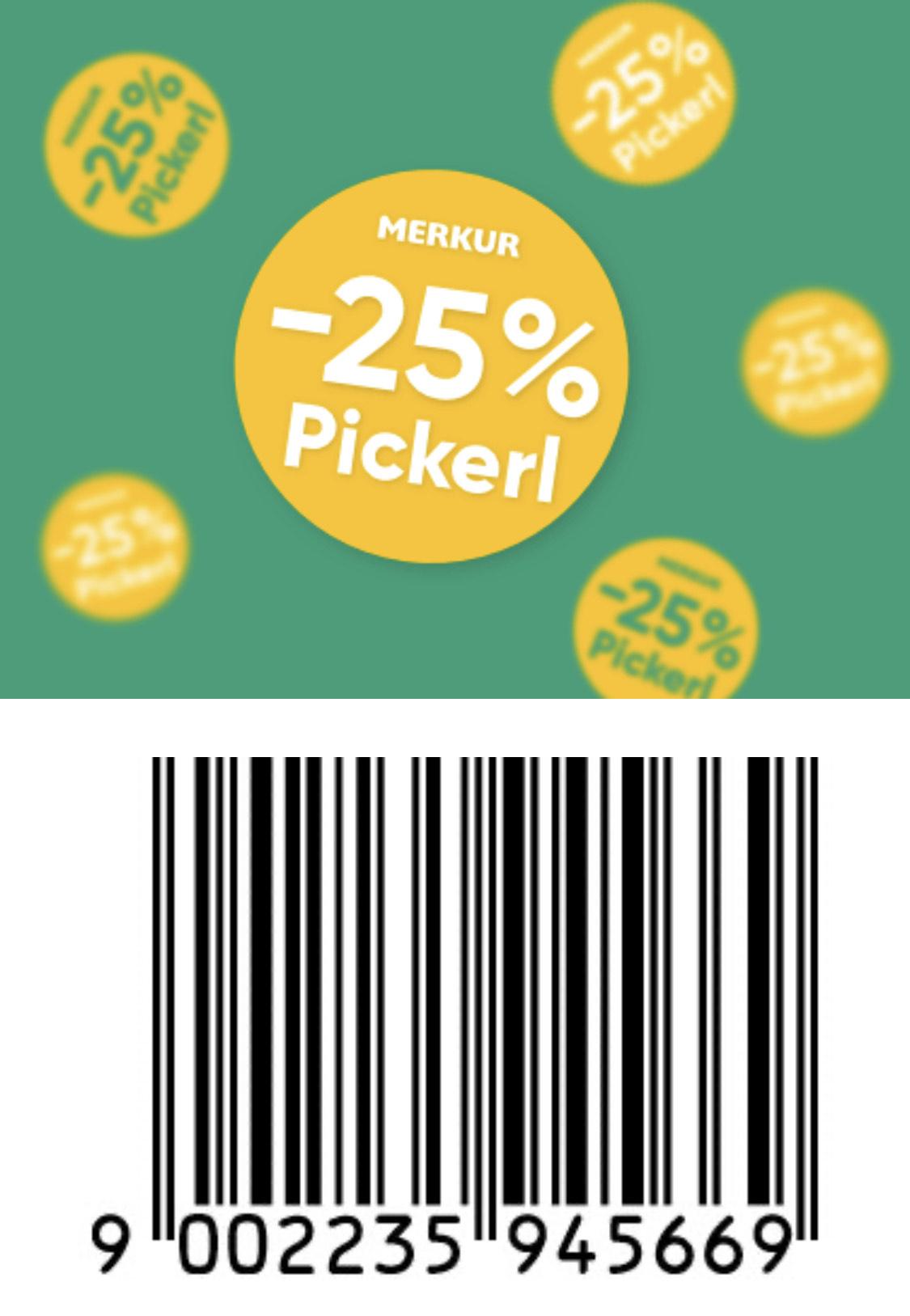 MERKUR-Aktuelle Angebote kombiniert mit -25% Pickerl