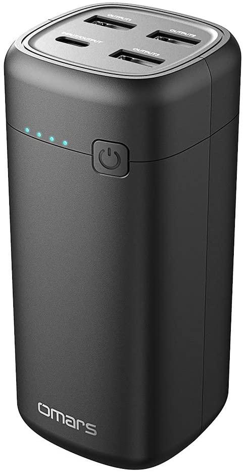 Powerbank Omars Kleine Externe Batterie 20000mAh USB C PD 45W Schnellladung für 12,99€