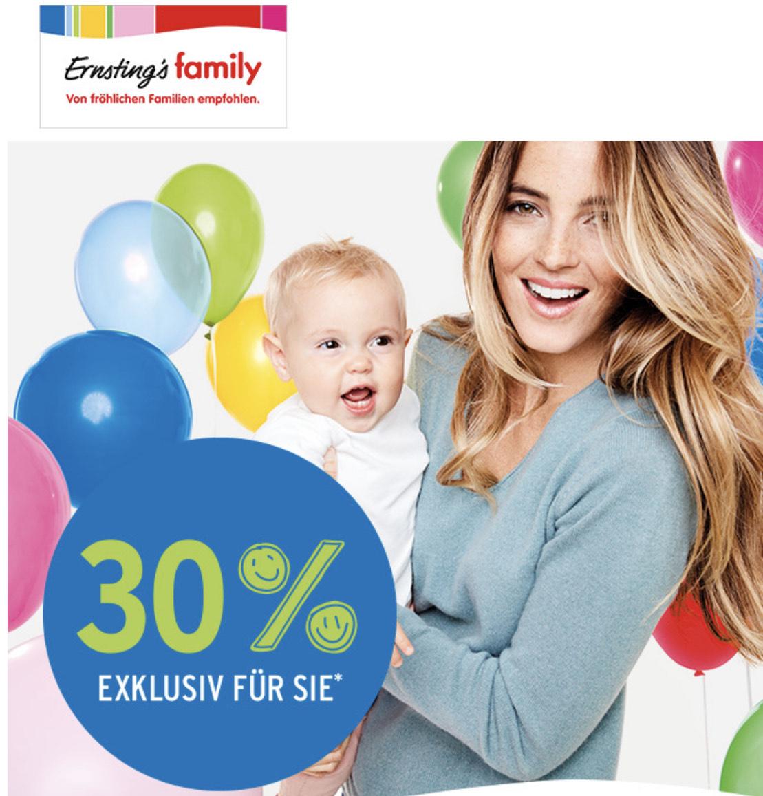 Ernstings Family: 30 % Eröffnungsrabatt auf alles in 1020 Wien
