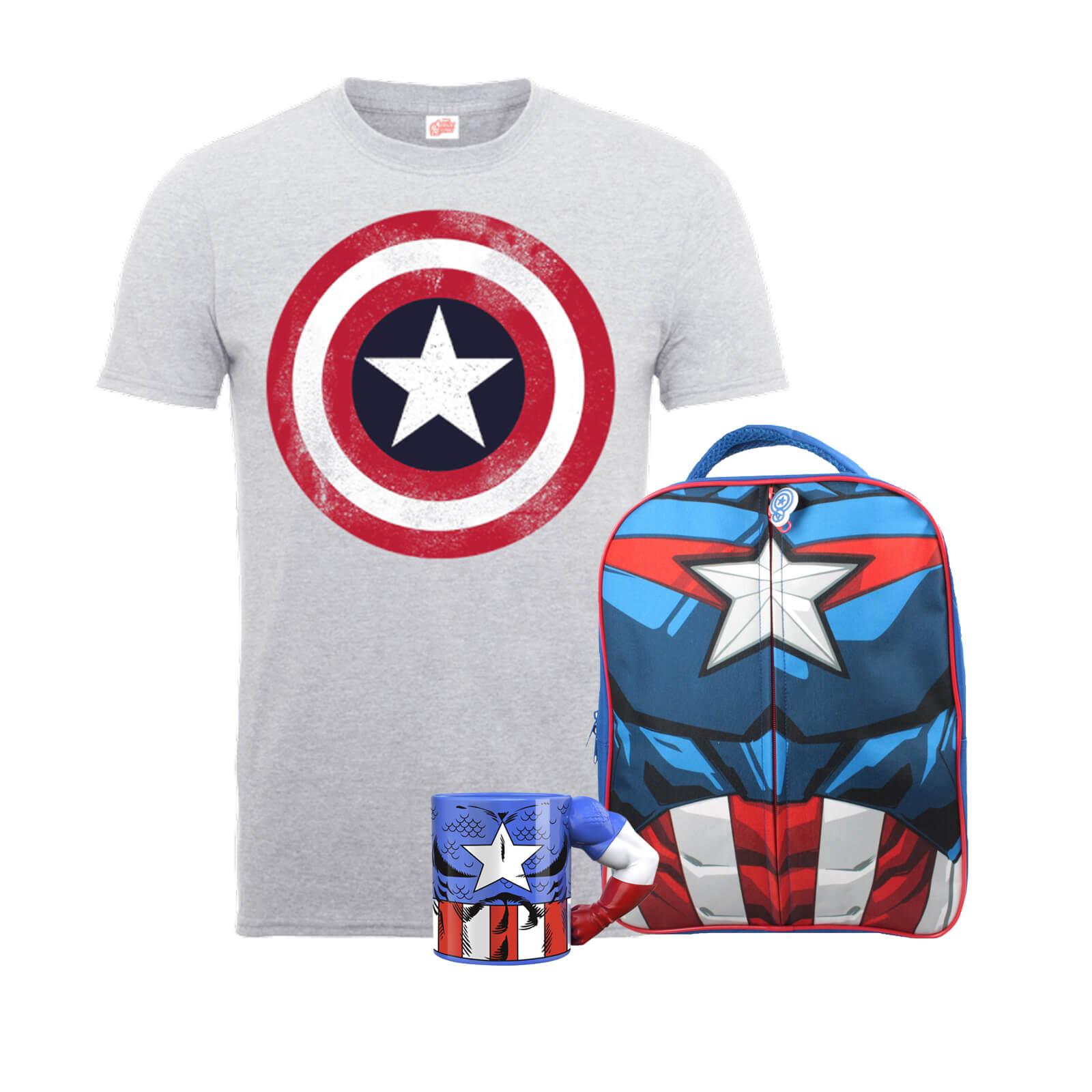 Zavvi: Marvel Tag, z.B.: Captain America T-Shirt + Rucksack + Tasse