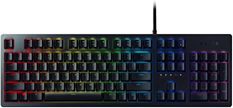 Razer Huntsman (mit Opto-Mechanical Schaltern, Lebensdauer von 100 Millionen Tastenanschlägen, RGB Chroma Beleuchtung, QWERTZ-Layout)